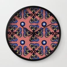 Butterflies and Dots Wall Clock