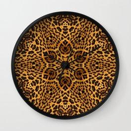 abstract animal print star Wall Clock