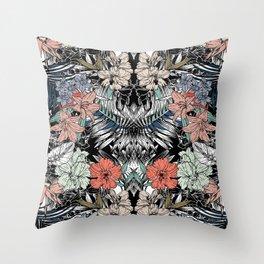 Flower jungle Throw Pillow