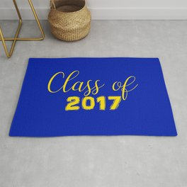 Class of 2017 - Blue Yellow Rug