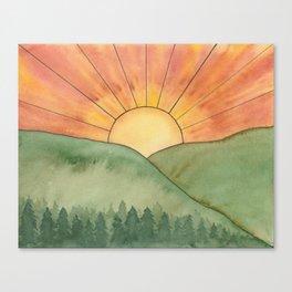Nurture Nature - Sunrise Watercolor Canvas Print