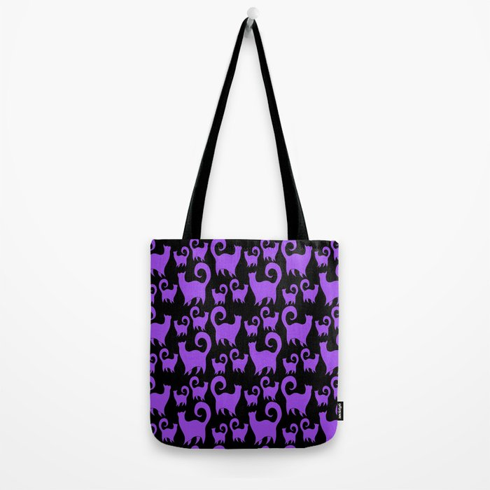 Purple Snobby Cats Tote Bag
