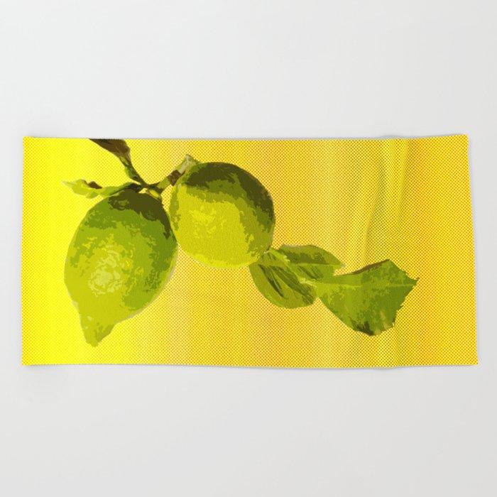 Summer Time Lime Beach Towel