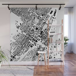 Montreal building city map Wall Mural