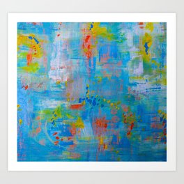 Colorful Abstract Wall Art, Vibrant colors, Contemporary home decor Art Print