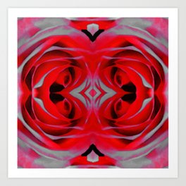Modern Rose - Flower Art By Sharon Cummings Art Print