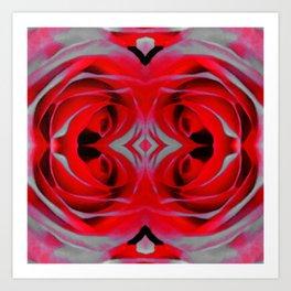 Modern Rose - Flower Art By Sharon Cummings Art Print