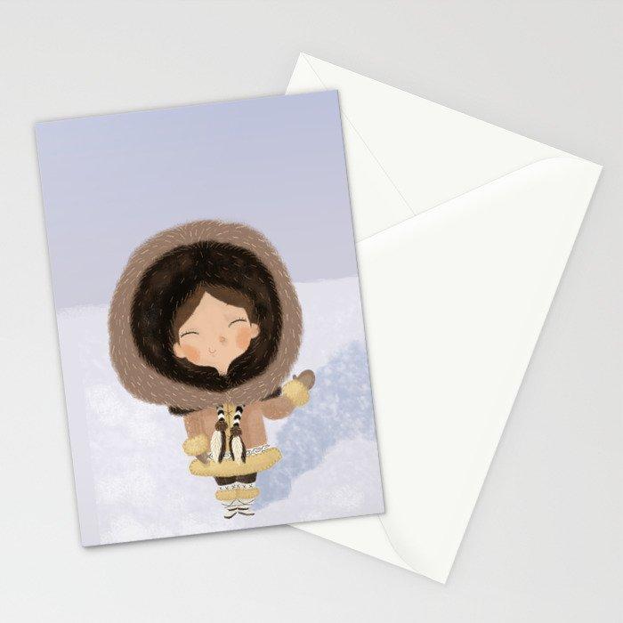 Cute eskimo Stationery Cards