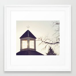 carriage house Framed Art Print