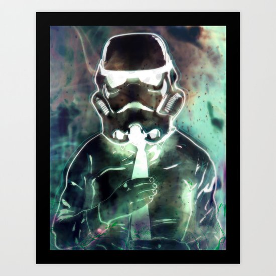 Storm Trooper Up for a Promotion Art Print