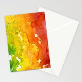 Rainbow Watercolor Texture Abstract Pattern Stationery Cards