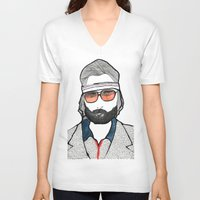 tenenbaum V-neck T-shirts featuring Richie Tenenbaum by daniel davidson