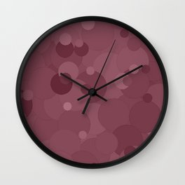 Crushed Berry Bubble Dot Color Accent Wall Clock