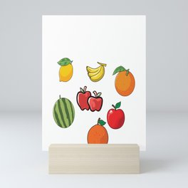 Just a Girl who likes Vegan Fruits Mini Art Print