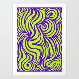 IRON of STEEL green on purple Art Print