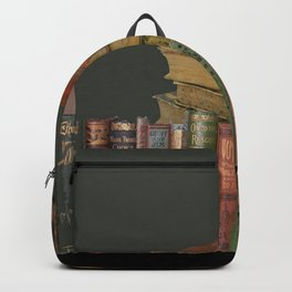 DECORATIVE  ANTIQUE LIBRARY, LEDGERS &  BOOKS ART Backpack