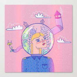 Anti Bad Vibes Shield Canvas Print