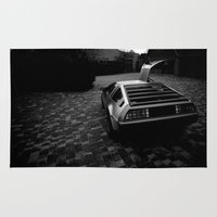 delorean Area & Throw Rugs featuring DeLorean DMC-12 by Matthew Clark