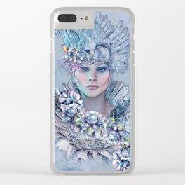 Blue Raven Clear iPhone Case