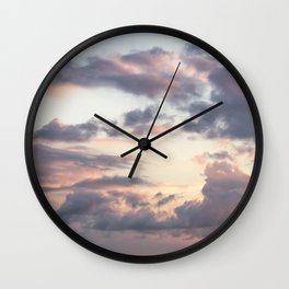 goodbye · clouds Wall Clock