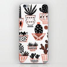 Mid-Century Modern Cacti iPhone Skin