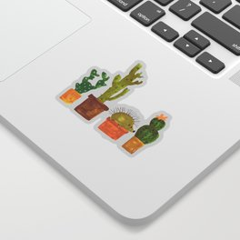 Hedgehog and Cactus (incognito) Sticker