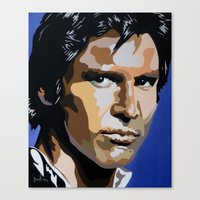 han solo Canvas Prints featuring Han Solo by iankingart