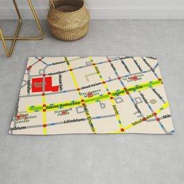 Tel Aviv map - Rothschild Blvd. Rug