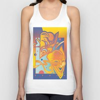 theatre Tank Tops featuring Theatre Masks by David Chestnutt