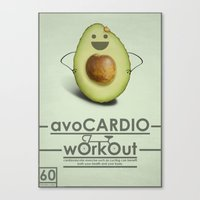 workout Canvas Prints featuring avoCARDIO workout by JosephMills