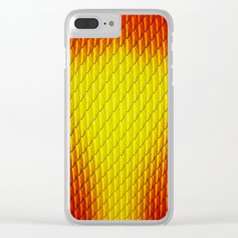 Red Fire Dragon Scales Clear iPhone Case