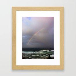 pacific rainbow Framed Art Print