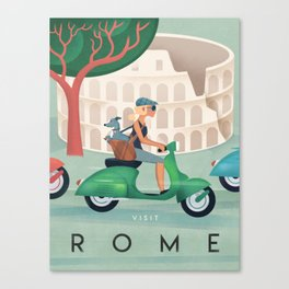 Rome Vintage Travel Poster Canvas Print