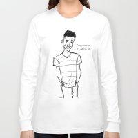 caleb troy Long Sleeve T-shirts featuring Caleb by x2cdotme