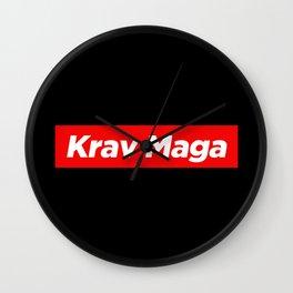 Krav Maga Martial Art Style Fighter Wall Clock