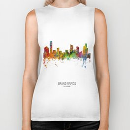 Grand Rapids Michigan Skyline Biker Tank