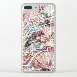 Vatican map Clear iPhone Case