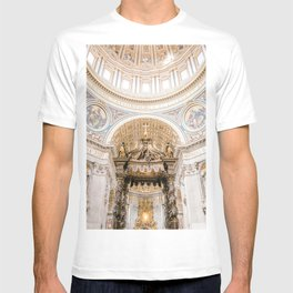 Rome 0002: Saint Peters Cathedral, San Pietro, Vatican City, Rome, Italy T-shirt