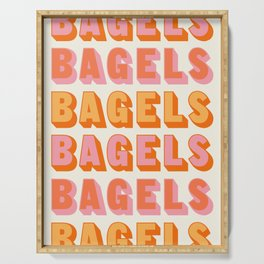 BAGELS BAGELS BAGELS Serving Tray
