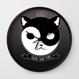 Yin Yang Meow // Kitten Kitty Cat of Balance Wall Clock