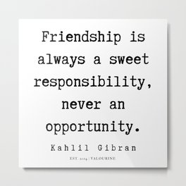 88   | Kahlil Gibran Quotes | 190701 Metal Print