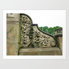 Central Park Floral Design Art Print
