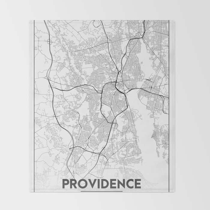Minimal City Maps - Map Of Providence, Rhode Island, United States ...
