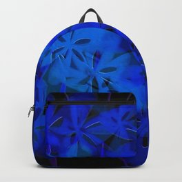 Floral Fun in Blue Backpack