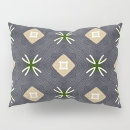 Koko beige and black with white marks pattern Pillow Sham