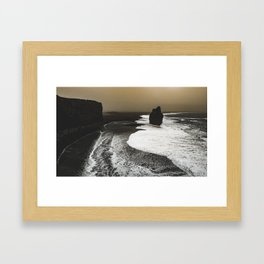 Black sand, Iceland Framed Art Print