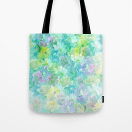 Enchanted Spring Floral Abstract Tote Bag