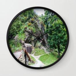 Arrowtown Chinese Settlement, New Zealand Wall Clock