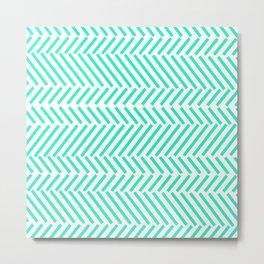 Turquois Pattern Metal Print