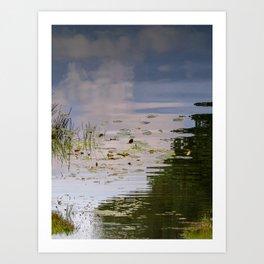 Impressionist Florida Lake View Art Print